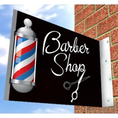 BARBER SHOP SIGN for SHOP FRONT Hairdressing, Aluminium Barbers Sign