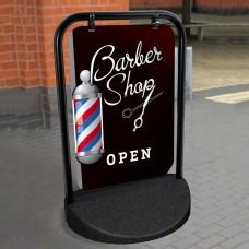 Barber Shop Swinger Pavement Stand