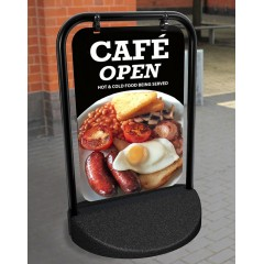 Cafe Breakfast Swinger Pavement Stand