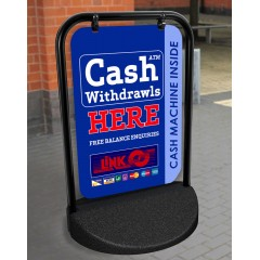 Cash Withdrawals Swinger Pavement Stand