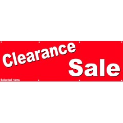 Clearance Sale PVC Banner