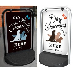 Dog Grooming Swinger Pavement Sign