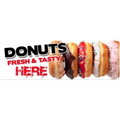 Donuts PVC Banner