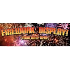 Firework Display PVC Banner