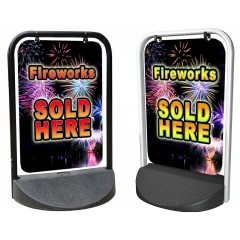 Fireworks Sold Here Swinger Pavement Stand