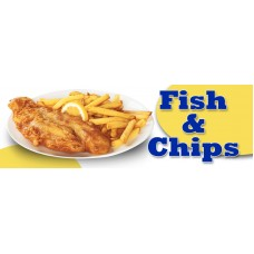 Fish and Chips PVC Banner