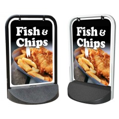 Fish and Chips Swinger Pavement Stand