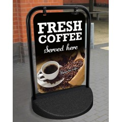 Fresh Coffee Swinger Pavement Stand