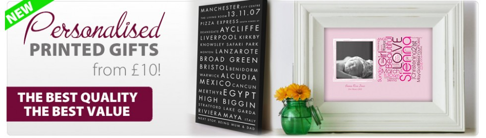 Personalised Printed Gifts