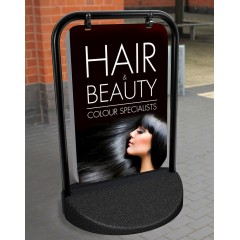 Hair and Beauty Swinger Pavement Stand