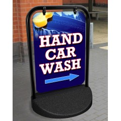 Hand Car Wash Swinger Pavement Stand