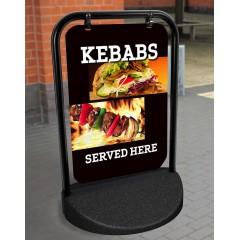 Kebab Swinging Pavement Stand