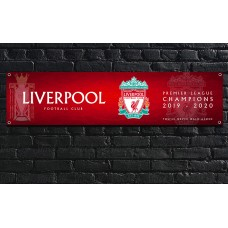Liverpool Football Club Premier League Champions Banner