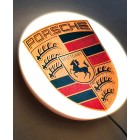 Porsche LED Illuminated Wall Sign