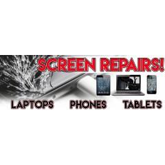 Screen Repair PVC Banner