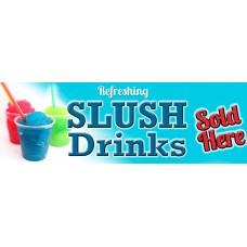 Ice Slush Drinks PVC Banner