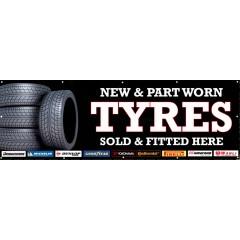 Tyres PVC Banner