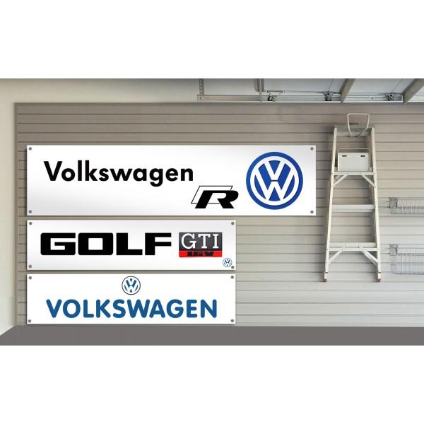 garage banner Volkswagen workshop