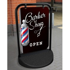 Barber Shop Swinger Pavement Stand