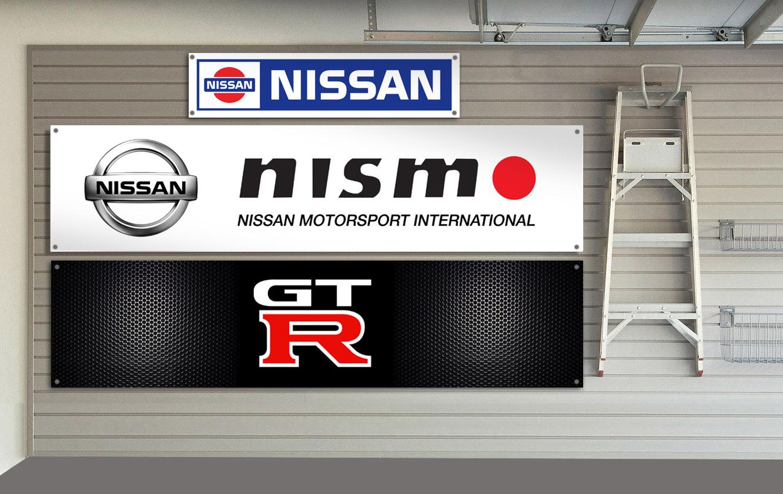 Nissan nismo gtr workshop garage banner