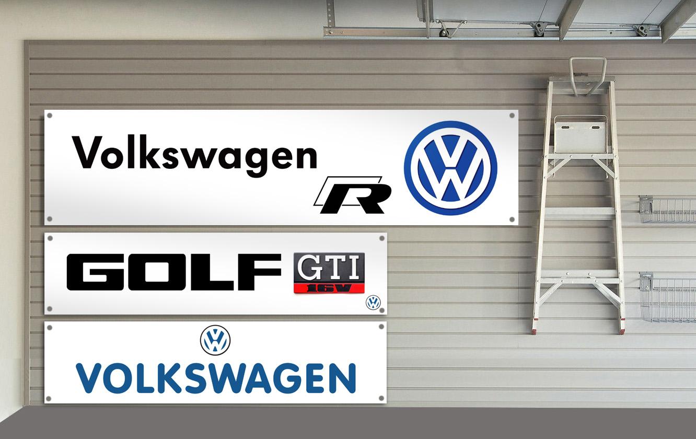 BANPN00144 VW Volkswagen Scirocco PVC Banner Garage Workshop GTI GLS GTX Sign
